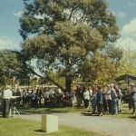 Dedication of historical plaques in LR Mood Park, Albion Park, 2001.