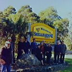 Tongarra Heritage Society members at Macquarie Pass fro dedication of centenary plaque, 1998