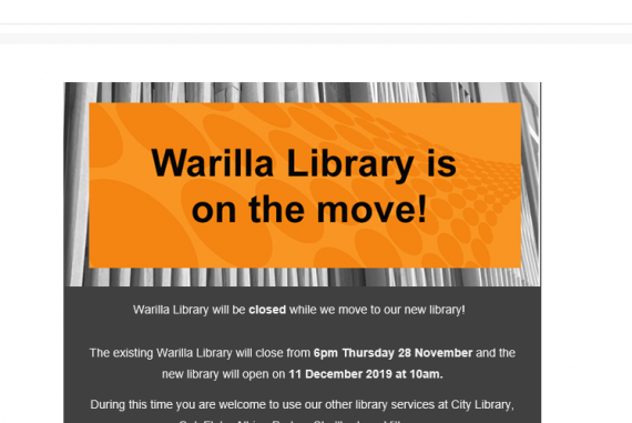 Warilla Library on the move